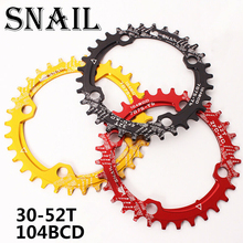 SNAIL 104BCD 30-42T Narrow Wide Chainring MTB Bike Round Oval Chainset Sprocket
