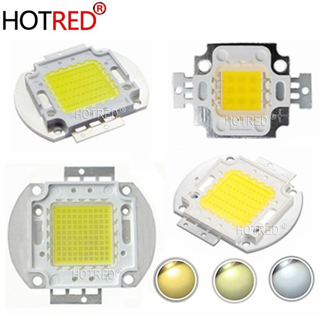 10PCS High Power LED COB Light SMD 45mil chips Cold White Warm White 10W 20W 30W 50W 100W LED Bulb Spotlights Diode DIY Lamps