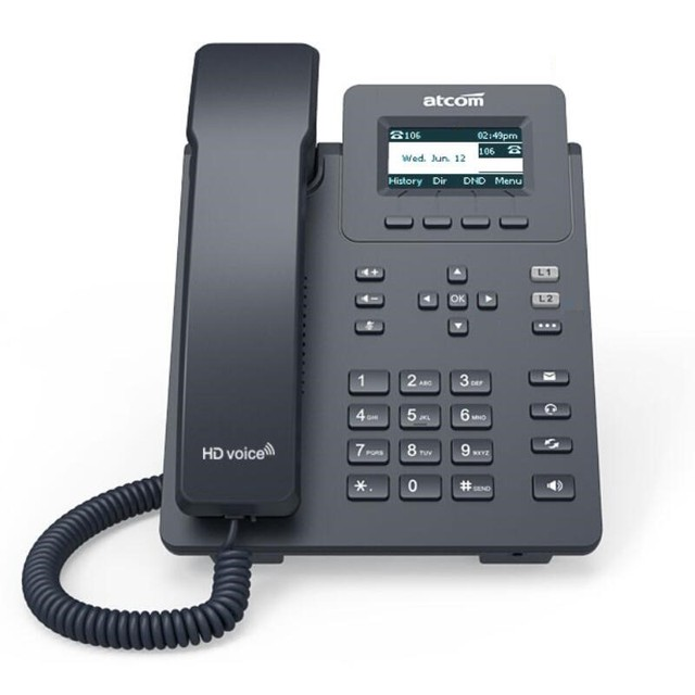 Brand ATCOM D20 VoIP SIP phone supports 6 SIP lines supports IPV6 IPV4 cost-effective office  IP telephone