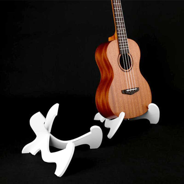Portable Ukulele Holder PVC Foldable Holder Stand Collapsible Vertical Guitar Display Stand Rack Instruments Accessories