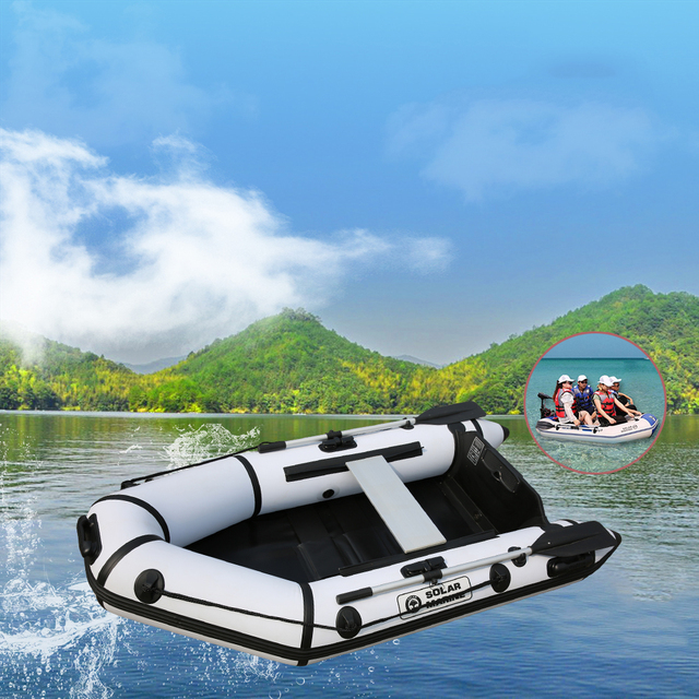 3 person 2.3m length rowing boats PVC inflatable wooden floor boat speed boat