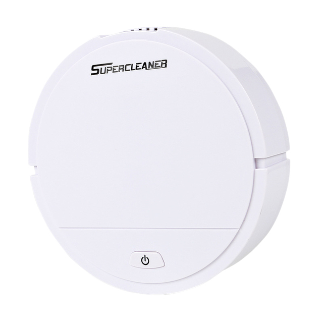 Robot Vacuum Cleaner Wet Cleaner Sweeper Dust Dry Robot and Floor Robot Smart Vacuum Automatic Smart Sweeper Battery Edition Whi
