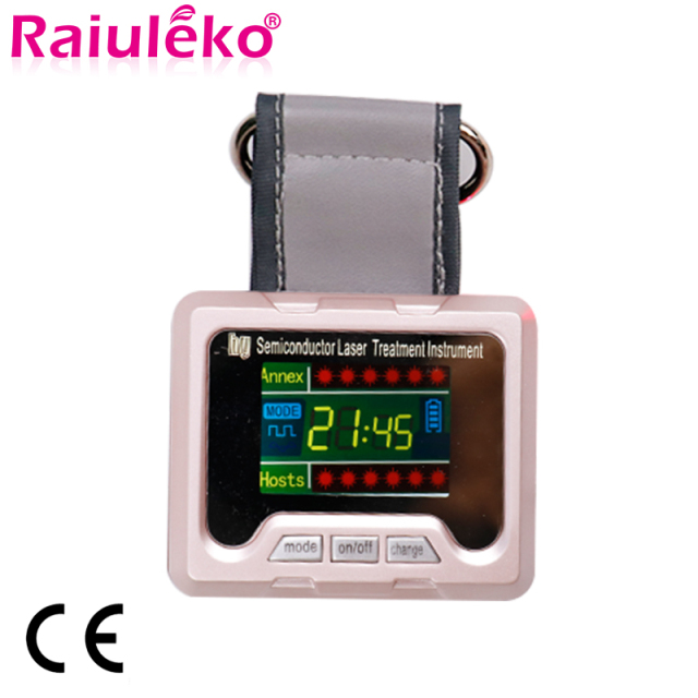 Physiotherapy 650nm Diode Laser Therapy Watch LLLT for Diabetes Rhinitis Cholesterol Cerebral Thrombosis Hypertension Treatment