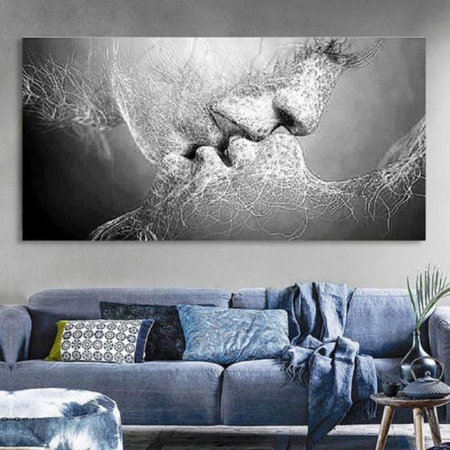 Romantic Love Kiss Art Canvas Painting Home Bedroom Picture Poster Wall Decor Buy Cheap In An Online Store With Delivery Price Comparison Specifications Photos And Customer Reviews