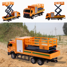 Engineering Vehicles Alloy Car Rescue Vehicles Truck Model Toy Inertia Function Mini Slide Car Model Gift for Kids Boys