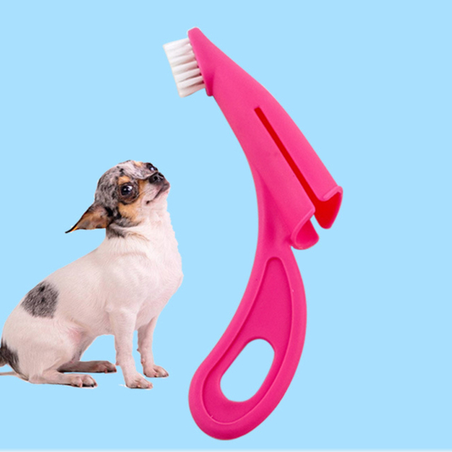 1pcs New Design Pet Finger Toothbrush Cat And Dog Stain Cleaning Brush Pet Oral Cleaning Supplies
