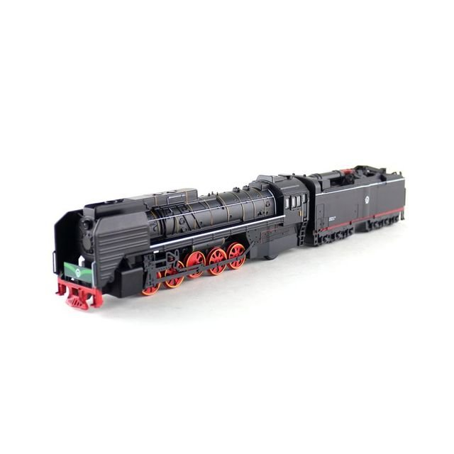 Classical QJ2 No.0001 Gas-power Locomotive Train Diecast Toy Car Model Pull Back Sound & Light Educational Collection