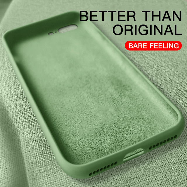 Official Thin Soft Case For iPhone 6 6s 7 8 Plus Original Liquid Silicone Cover Candy Coque Capa For iPhone X Xs 11 Pro Max XR