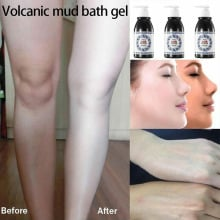 New Safe Effective Volcanic Mud Shower Gel Whole Body Wash Fast Whitening Deep Clean Skin Moisturizing Exfoliating Body Care