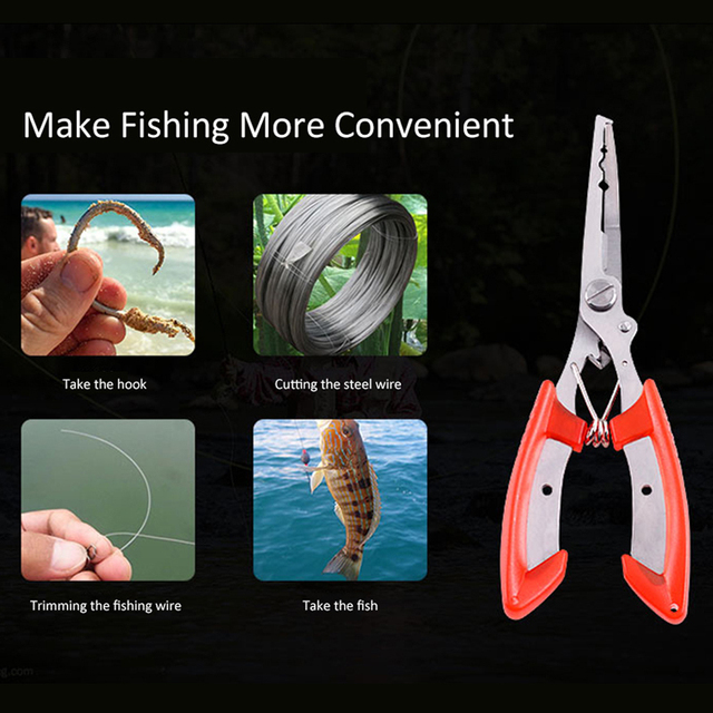 Professional Fishing Pliers Stainless Steel Pliers Fishing Multifunctional Plier for Fishing Wire Cuttping Outdoor Fishing Tool