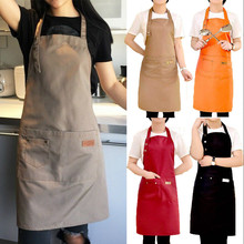 Black + Sleeve Kitchen Cooking Bib Apron Waterproof Aprons Creative Barbecue Baking Aprons with Pockets for Women Men Chef