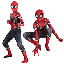 New Spider Man Far From Home Cosplay Costume Zentai Spiderman Superhero Bodysuit Spandex Suit for Adult/ Kids Custom Made