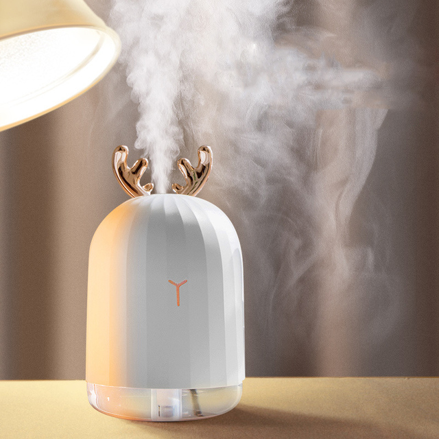 Air Humidifier USB Aroma Diffuser Ultrasonic Mini Humidifier 220ML Aromatherapy Oil Diffuser Mist Maker Atomizer With Lamp Light