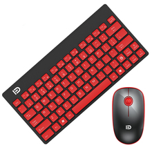 1500 Mini Wireless Keyboard And Mouse Set Ergonomic Design Thin And Light Keyboard Mute Mouse For Laptop PC