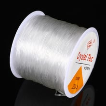 1pc 0.6/0.7/0.8/1.0mm Stretch Elastic Cords Transparent Line Bracelet Thread Beading Rope String DIY Jewelry Making Accessories