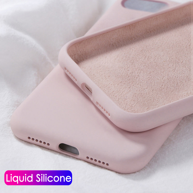 Shockproof Original Silicone Case For Apple iPhone 11 Pro Max 6S 7 8 Plus X XS MAX XR Case Cute Candy Color Thin Soft Back Cover