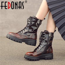FEDONAS New Microfiber Leather Short Boots Party Shoes Woman Autumn Winter Warm Women Ankle Boots Punk Zipper Motorcycle Boots