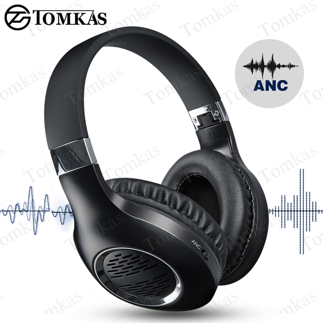 Bluetooth Headphones Foldable ANC Headsets Wireless Active Noise Cancelling Gaming Headset For Phone With Mic Wireless Earbuds