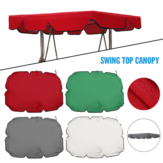1pc 3/2 Seats UV Garden Swing Chair Canopy Cover Shade Sail  Hammock Tent Swing Top Cover for Outdoor Courtyard