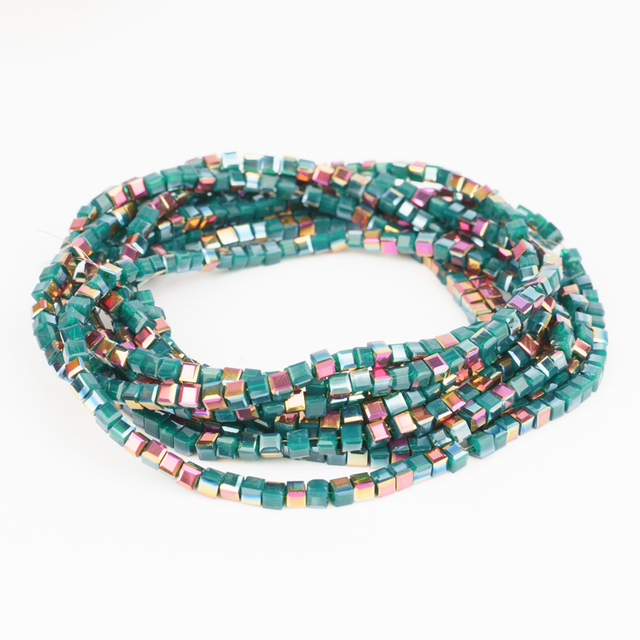 2mm 195pcs Colorful Cube Crystal Glass Beads Czech Crystal Glass Square Beads Used For Jewelry Making Bracelet Diy Buy Cheap In An Online Store With Delivery Price Comparison Specifications Photos And