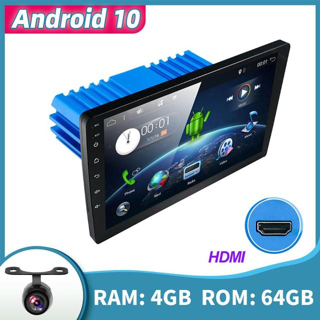 """9/"""" Android 9.0 1Din 4+64GB Octa-core Car Stereo Radio Player GPS BT DAB HDMI FM"""