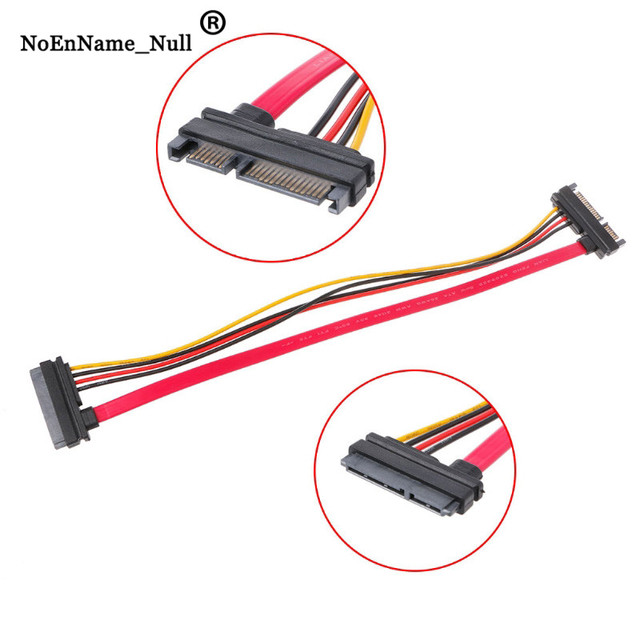 Male To Female Adapter Cable 30cm 22Pin(15+7) Male To Female SATA Serial ATA Data Power Cable Extension Cord