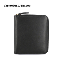 Leather leather zipper wallet simple men's wallet student wallet card bag key case driver's license coin bag fashion