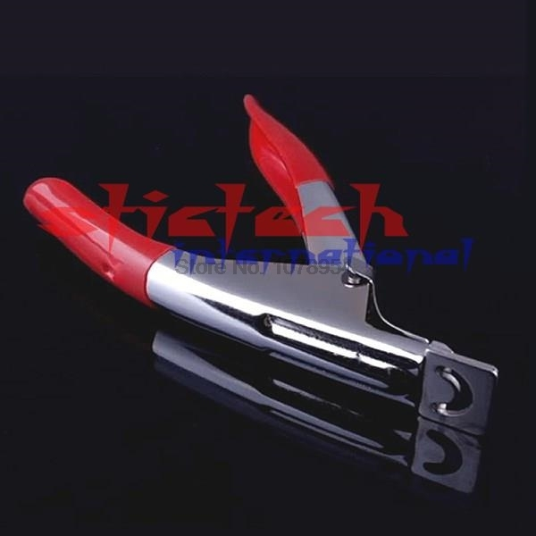 by dhl or ems 300pcs New red Manicure Tool Acrylic UV Gel False Nail Clipper /Nail Edge Cutter Tips Free Shipping