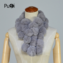 Pudi SF801 women's real rabbit  fur scarf Comfortable and warm 2018 brand new fashion scarf