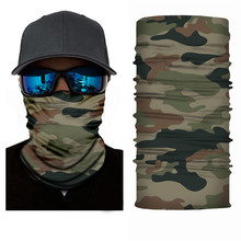 High-Jump Army Military Hiking Scarves Polyester Windproof Neck Warmer Anti UV Tactical Camouflage Face Mask Bandana Hiking Gear
