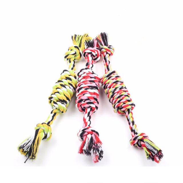Pet Candy Cotton Yarn Woven Rope Toys Dog Chew Toys Cotton Rope Material Pet Dogs Chew Toys Pet Supplies Products