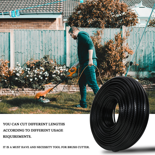 60Mx3mm Strong Trimmer Rope Strimmer Brushcutter Nylon Cord Line String Rope Mowing Wire for Grass Strimmer Lawn Mower Accessory