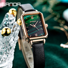 Casual Ladies Wristwatches Rose Gold Quartz Watches SANDA Top Luxury Brand Clock Star relogio feminino Mesh Strap Women Watch
