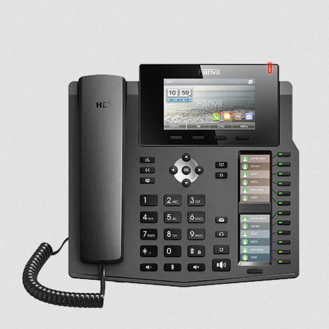 """10pcs/lot  X6 20 Line Gigabit Color PoE VoIP SIP phone with 4.3"""" Main Color Screen High-end office hotel IP Telephone"""