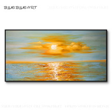 Excellent Artist Pure Hand-painted High Quality Abstract Landscape Sunset Painting on Canvas Wonderful Sunset Acrylic Painting