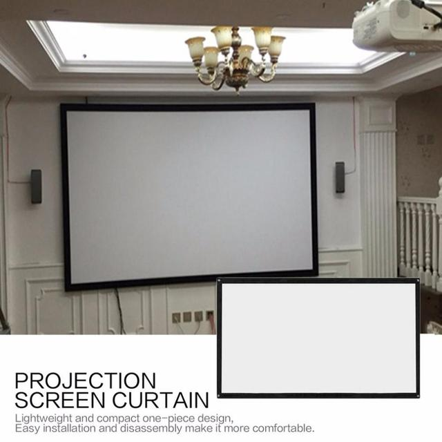 """100/"""" /& 120/'/' Portable Foldable Projector Screen 16:9 HD Home Theater 3D Movies"""