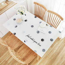 1.5mm Kawaii PVC Soft Glass Tablecloth Waterproof Oilproof Plastic Transparent Modern Dining Table Cover with Kitchen Mats Pads
