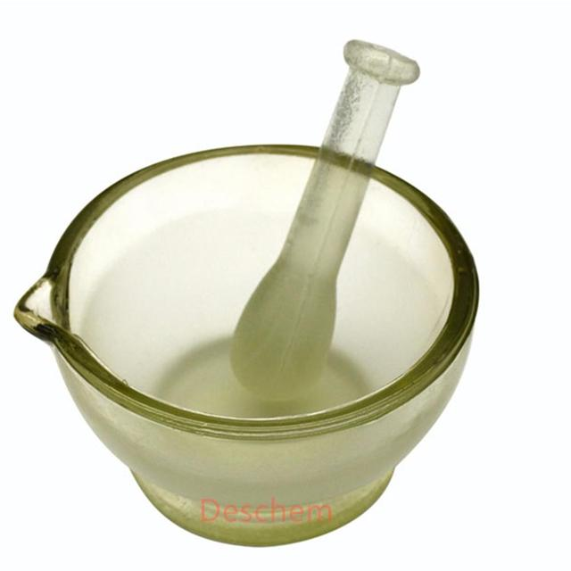 150mm,Footed Glass mortar,Ground glass mortar and pestle,Diameter 15cm