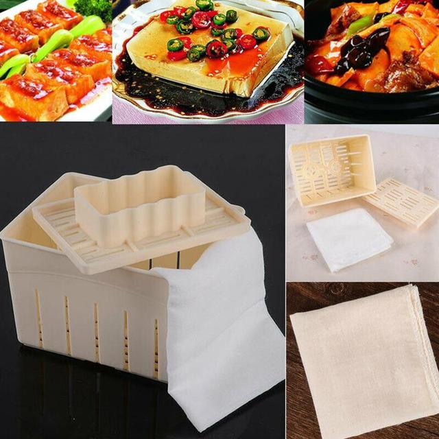 Tofu Box Tofu Homemade DIY Plastic Mold Maker Press Mold Kitchen Pressing Mold With Soy Cheese Mold