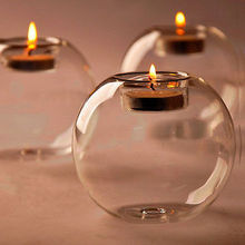 US STOCK Crystal Glass Candle Holder Romantic Wedding Bar Party Home Decor Candlestick