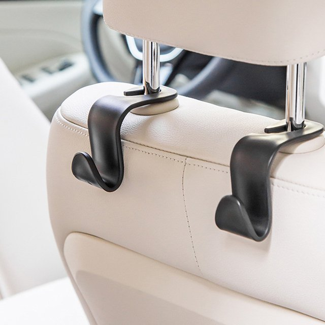 1PC Car Organizer Storage Holder Round Edge Car Seat Back Hook For Bags Vehicle  Headrest Hanger Clips For Home Car Accessories