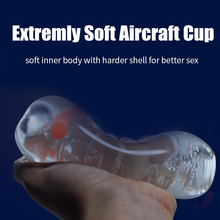 TPE Transparent Aircraft Cup Male Masturbation Sex Toys for Men Vagina Real Pussy for Adult Free Shipping