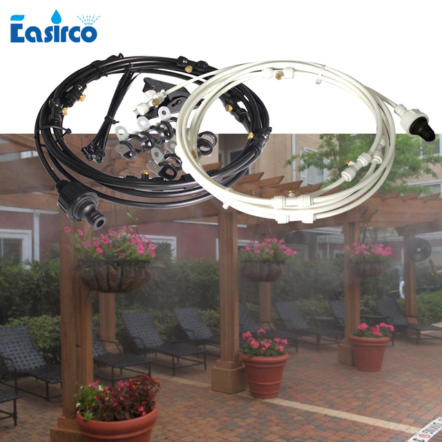 Outdoor Mist Cooling System Irrigation kits for Greenhouse Garden Patio 6M~18M Mister Line system