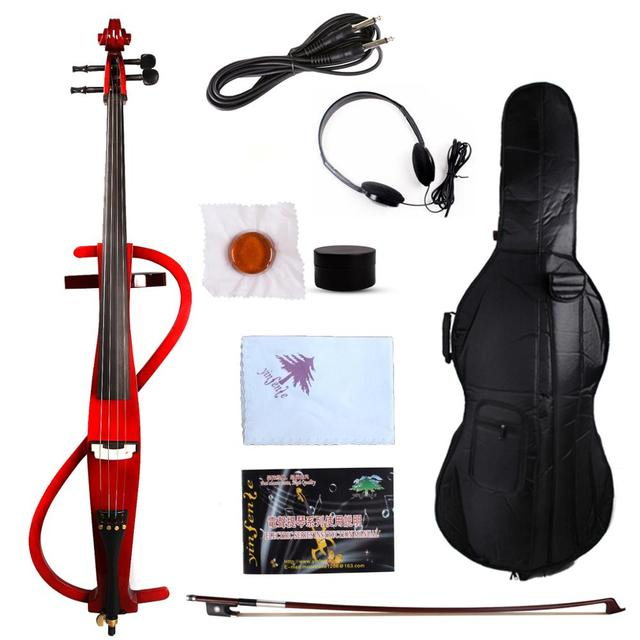 New 4/4 Electric Cello Silent Powerful Sound Parted Agile Black High Quality