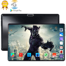 4G LTE 128GB Global Bluetooth Wifi Android 9.0 10.1 inch tablet Octa Core 6GB RAM 128G ROM Dual SIM Card 2.5D Glass Tablet Pc