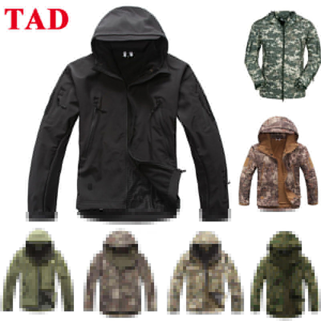 Tactical TAD Sharkskin Jacket Men Outdoor Hunting Clothes Hiking Climbing Waterproof Sport Coat Windbreaker
