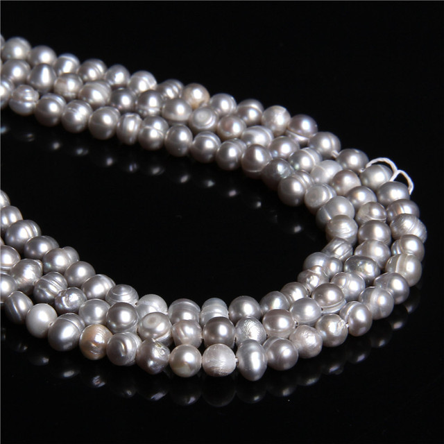 4-4.5mm Natural gray Potato freshwater pearls loose pearl beads grey oval pearl beads Bracelet Necklace for women jewelry making