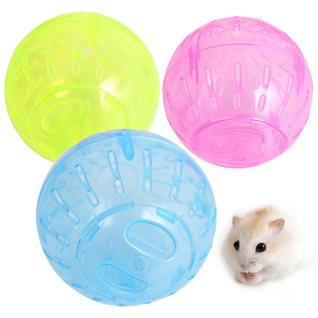Rat Jogging Ball Plastic Small Animals Rodent Mice Hamster Exercise Toy Pet Supplies PAK55