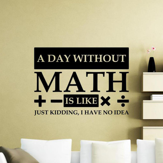 Math Wall Decal Quote Classroom Decor Math Teacher Gift Poster Vinyl Sticker Science Wall Art Sign Education Decals Bedroom G685