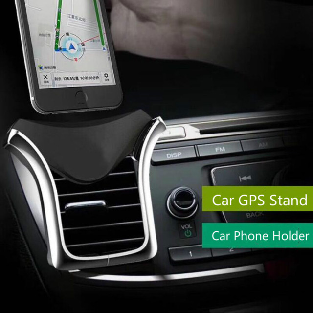 Car GPS Stand U-type Gravity Car Phone Holder Automatic Load-bearing Induction Navigation Bracket Air Vent Mount Car Holder